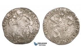 ZM543, Netherlands, West Friesland, Lion Daalder (Taler) 1616, Silver (26.31g) VF