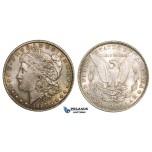ZM548, United States, Morgan Dollar 1887, Philadelphia, Silver, Toned Ch UNC