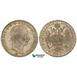 ZM550, Austria, Franz Joseph, 1/4 Gulden 1858-A, Vienna, Silver, Toned XF-UNC