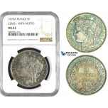 ZM578, France, Third Republic, 5 Francs 1870-A, Paris, NGC MS63 (Green Toning)