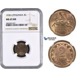 ZM592, Lithuania, 2 Centai 1936, NGC MS65RB
