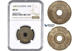 ZM601, Palestine, 10 Mils 1940, NGC MS61