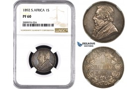 ZM616, South Africa (ZAR) Shilling 1892, Silver, NGC PF60