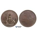ZM667, France, Bronze Medal ND (1830-50) (Ø41.5mm, 36g) by Montagny, Geography Society