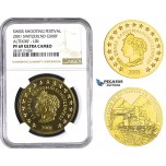 ZM673, Switzerland, Shooting 500 Francs 2001, Le Locle, Gold, Altdorf-Uri, NGC PF69 Ultra Cameo, Mintage 150pcs