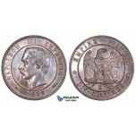 ZM681, France, Napoleon III, 10 Centimes 1853-D, Lyon, Prooflike UNC (Light cleaning)
