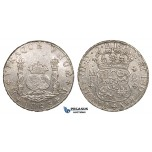 ZM683, Mexico, Charles III, Pillar 8 Reales 1763 Mo MF, Mexico City, Silver, Cleaned XF