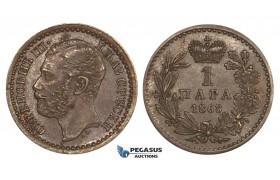 ZM687, Serbia, M. Obrenovic III, 1 Para 1868, AU