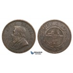 ZM688, South Africa (ZAR) Penny 1893, VF
