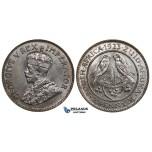 ZM691, South Africa, George V, 1/4 Penny 1923, Pretoria, Ch UNC
