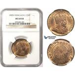 ZM70, Hong Kong, Edward VII, 1 Cent 1905-H, Heaton, NGC MS64RB