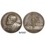 ZM707, Sweden, Silver Art Nouveau Medal 1891 (Ø31mm, 15g) by Ahlborn, Erik Edlund, Science Academy