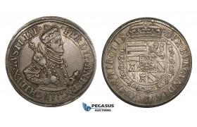 ZM711, Austria, Archduke Ferdinand, Taler ND (1564-95) Hall, Silver (28.45g) Toned VF-XF
