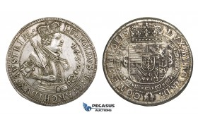 ZM712, Austria, Archduke Leopold, Taler 1632, Hall, Silver (28.45g) Cleaned long ago, deposits, aXF