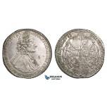 ZM715, Austria, Bohemia, Olmütz, Wolfgang v.-Schrattenbach, Taler 1733, Silver (28.60g) flaw in field, cleaned but lustrous AU
