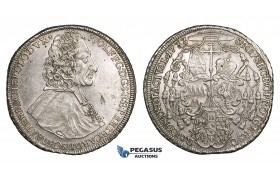 ZM715, Austria, Bohemia, Olmütz, Wolfgang v.-Schrattenbach, Taler 1733, Silver (28.60g) flaw in field, cleaned but lustrous AU