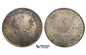 ZM717, Germany, Frankfurt, X Mark - Taler 1796, Silver (28.10g) Cabinet toning, few adjustment marks, aUNC