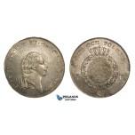 ZM723, Sweden, Gustav IV. Adolf, Riksdaler 1796-OL, Stockholm, Silver (29.32g) SM 25, Few adjustment marks, lustrous aUNC