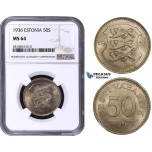 ZM806, Estonia, 50 Senti 1936, NGC MS64