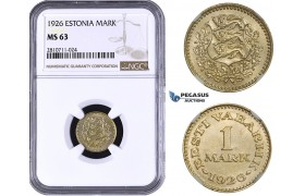 ZM808, Estonia, 1 Mark 1926, NGC MS63