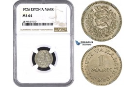 ZM809, Estonia, 1 Mark 1926, NGC MS64