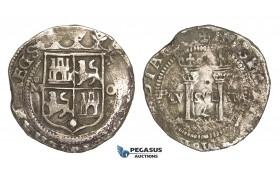 ZM81, Mexico, Carlos & Johanna, 4 Reales ND (ca. 155?-1557) Mo O, Mexico City, Silver (13.19g) VF (some corrosion)