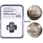 ZM824, South Africa, 10 Cents 1989, Struck 25% off center, NGC MS65