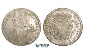 ZM86, Ragusa, Tallero rettorale 1765 GB, Silver (28.42g) Lustrous AU, Adjustment marks