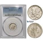 ZM867, United States, Mercury Dime (10C) 1918-S, San Francisco, Silver, PCGS AU55
