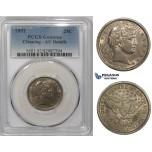 ZM868, United States, Barber Quarter (25C) 1892, Philadelphia, Silver, PCGS AU Det.