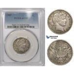 ZM870, United States, Barber Quarter (25C) 1907, Philadelphia, Silver, PCGS AU55