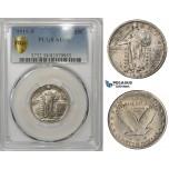 ZM872, United States, Liberty Standing Quarter (25C) 1919-S, San Francisco, Silver, PCGS AU58