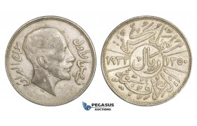 ZM905, Iraq, Faisal, 1 Riyal AH1350 (1932) Silver, VF-XF, light marks on neck!