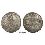 ZM922, Austria, Bohemia, Charles VI, Taler 1715, Prague, Silver (28.34g) Few flaws, EF