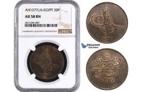 ZM925, Ottoman Empire, Egypt, Abdülaziz II, 20 Para AH1277/6, Misr, NGC AU58BN