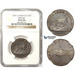 ZM93, Sierra Leone Company, 1 Cent 1791, Bronze, NGC PF63BN