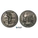 ZM965, Germany, Silver Medal 1900 (Ø50.5mm, 41.3g) by Kissel & Mayer, 500 Year Anniversary of Johannes Gutenberg