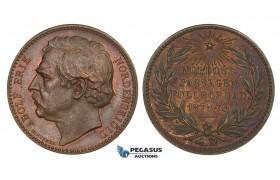 ZM974, Sweden, Bronze Medal 1879 (Ø27mm, 10.6g) by Lindberg, Expedition, Adolf Erik Nordenskjold