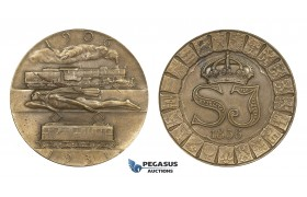 ZM978, Sweden, Art Deco Bronze Medal 1931 (Ø50mm, 44.1g) by Sporrong & Co., Train, Railroad