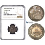 ZM986, French Indo-China, 10 Centimes 1895-A, Paris, Silver