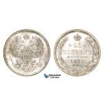 ZM99, Russia, Alexander II, 20 Kopeks 1871 СПБ-HI, St. Petersburg, Silver, UNC