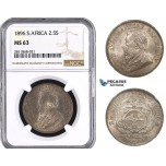 ZM990, South Africa (ZAR) 2 1/2 Shillings 1896, Silver, NGC MS63