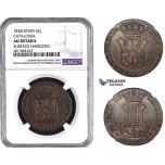 ZM991, Spain, Catalonia, 6 Cuartos 1838, NGC AU Details
