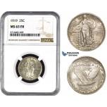 ZM996, United States, Standing Liberty Quarter (25C) 1919, Philadelphia, Silver, NGC MS63FH